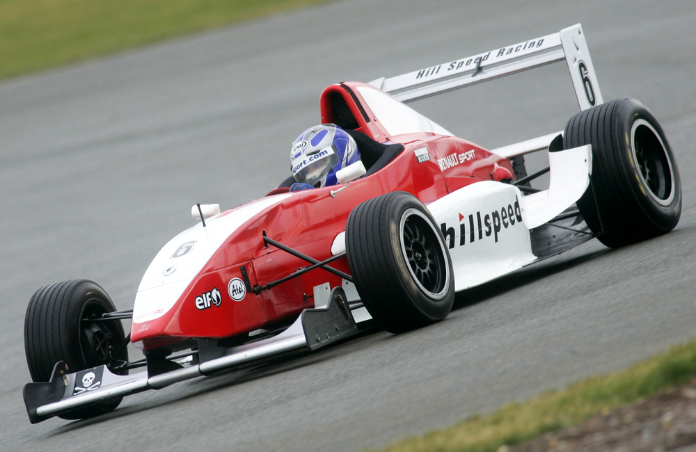 Formula Renault James Rigby driving for Hillspeed at Silverstone
