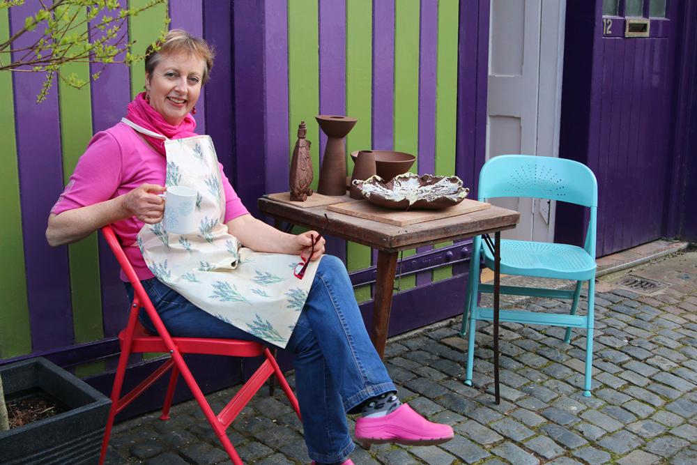 Mary Penley outside studio