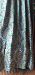 Fabric in the Art Nouveau style used for soft furnishings