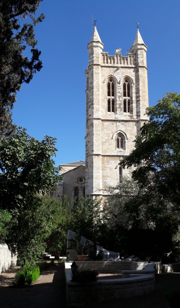 The Anglican Cathedral, Jerusalem, part of the college campus.