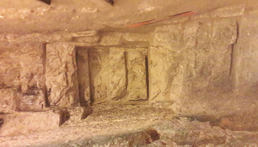 The stones for both the first and second temple cut from this quarry, below Old Jerusalem were cut vertically from the rock, as these ancient part-cut stones reveal.