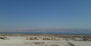 Looking towards the Dead Sea from Qumran